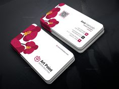 Flower Professional Corporate Business Card Template 001312