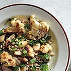 Spinach Barley Salad w/ Gorgonzola & Toasted Walnuts