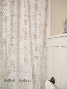Regular curtains as shower curtains...Thrifty and Chic - DIY Projects and Home Decor