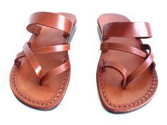 Brown Leather Women's Sandals APHRODITE EU42 End by Sandalimshop