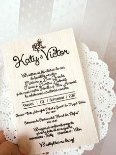 invitatii pe lemn Personalized Items