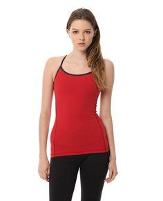 AUMNIE :: INVERSION TANK HEART/HEATHER BLACK #yoga #pilates #yogatank #yogatop #yogawear #fittnesswear #sportswear #redtop
