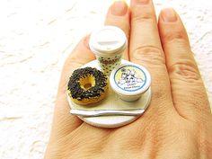 Coffee Food Ring Bagel Cream Cheese!