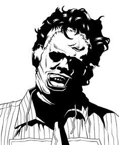 Horror Movie Tattoos, Horror Movie Characters, Horror Movies, Movie Crafts, Horror Drawing, Creepy Drawings, Horror Artwork, Horror Icons, Arte Horror