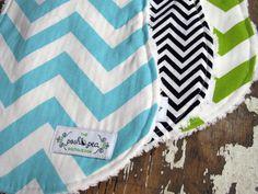 Chevron Baby Burp Cloths