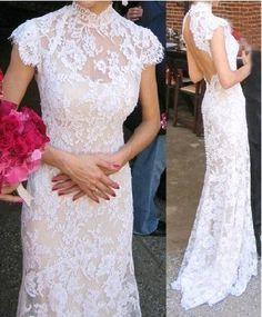 sexy+Lace+Mermaid+Wedding+dress+wedding+gown+Lace+por+TinnaDress,+$300.00