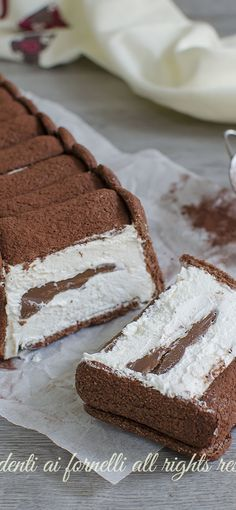 Ice Cream Deserts, Icebox Cake, Italian Desserts, Food Porn, Dessert Recipes, Food And Drink, Cooking Recipes, Favorite Recipes, Sweets