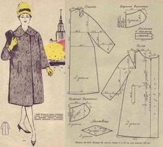 5542baa8eb3b6ff056ef222588e746cc (563x509, 192Kb) Skirt Patterns Sewing, Coat Patterns, Vintage Sewing Patterns, Clothing Patterns, Barbie Vintage, Patron Vintage, Sewing Coat, Vintage Coat, Pattern Cutting