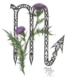 Zodiac Flower Design: Scorpio by D-Angeline.deviantart.com on @deviantART