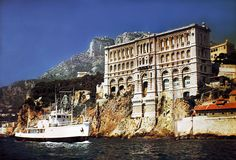 Jacques Cousteau was the Director of Monaco's Oceanographic Museum from 1957 until he died in 1997. In the photo below you see the Calypso passing the Museum which was amazing because the Calypso cruised all over the planet which made it a truly international symbol of adventure.