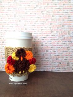 Tom Turkey Coffee CozyCoffee CozyCup by MissSquirrelsShop on Etsy