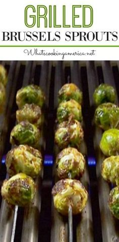 This technique of grilling brussels sprouts is so good, even your children will love them. The secret to delicious brussels sprouts is to never overcook them! Grilled Brussel Sprouts, Grilled Vegetables, Brussels Sprouts, Grilled Vegetable Recipes, Vegetables On The Grill, Sauce Pizza, Pellet Grill Recipes, Recipes For The Grill, Weber Grill Recipes