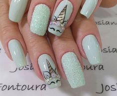 nail designs for fall nail designs for short nails 2019 best nail stickers nail art stickers walmart full nail stickers nail designs for short nails nail designs for short nails easy essie nail stickers nail art stickers at home full nail stickers Perfect Nails, Gorgeous Nails, Love Nails, Pretty Nails, Unicorn Nails Designs, Unicorn Nail Art, Cute Acrylic Nails, Acrylic Nail Designs, Nail Art Designs