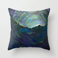 Edge of Eternity Throw Pillow by LILY NAVA GALLERY - $20.00