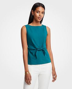 cb4292a3dcbaa2 Shop Ann Taylor for effortless style and everyday elegance. Our Petite Tie  Waist Shell is