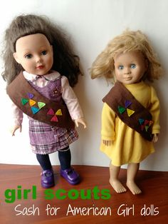 How to make a girl scout sash for your doll