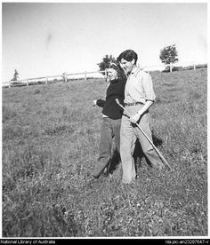 John and Sunday Reed at Heide.