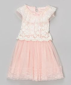 Another great find on #zulily! Pink Lace Dress - Toddler & Girls #zulilyfinds
