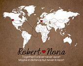 Love Mileage across the World Personalized by WanderingFables