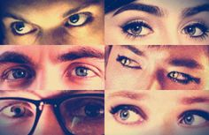 The Mortal Instruments Cast: Eyes - they're paired by couple!! Is it sad that i can tell whose eyes are whose?...