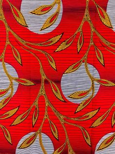 African Fabric Real Wax Print 6 Yards 100 Cotton by Africanpremier, $24.99