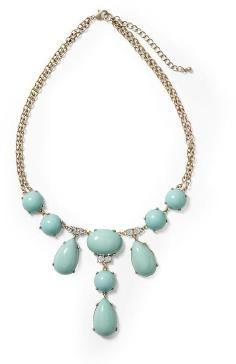 Pim + Larkin Turquoise Cabachon Statement Necklace - Turquoise