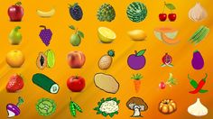 Fruit and Vegetable Coloring Pages for Kids