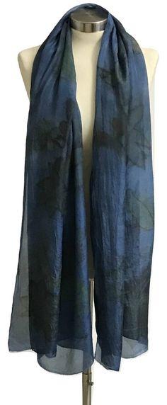 Blue Silk Scarf, Indigo Scarf, Blue Scarf,http://etsy.me/2CtzTth #accessories #scarf #blue #birthday #valentinesday