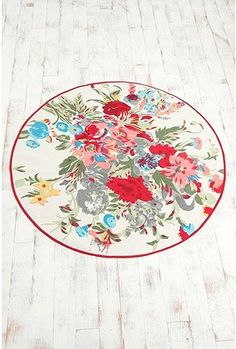 """60"""" Round Rug - So fun but too big for my bathroom :( I would love a bright rug like this just smaller"""