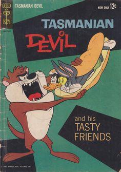 Title: Tasmanian Devil And His Tasty Friends Series: Gold Key Comics #1 Characters: Tasmanian Devil, Bugs Bunny, Elmer Fudd, Tweety, Sylvester, Road Runner, Wile E. Coyote, Daffy Duck, Yosemite...
