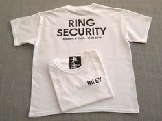 RING SECURITY Personalized Ring Bearer Wedding by TheKnottedPalm