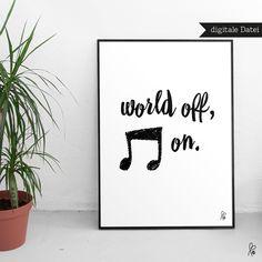 Digitaldruck: Poster als kreative Wandgestaltung, Deko für Dein Zuhause / digital print: poster as creative wall decor for your home made by sppiy via DaWanda.com
