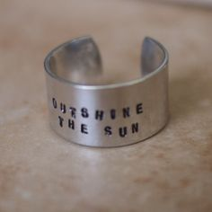 Silver Adjustable Ring – Outshine the sun