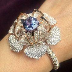 bracelet by Glenn Spiro set with a rare purple spinel and diamonds. .    .