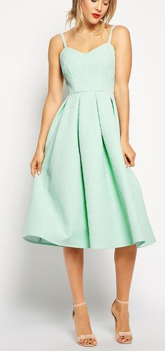 I think I have found my homecoming dress! Midi Skater Dress in Bonded Texture - £75 ASOS
