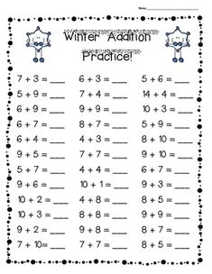 FALL Addition Practice Worksheet Pack - 3 Leveled Sheets for Back to School! I made this pack of add Math Practice Worksheets, Kindergarten Addition Worksheets, First Grade Math Worksheets, Addition And Subtraction Worksheets, 1st Grade Math, Kindergarten Worksheets, Basic Math, Preschool Math, Math For Kids