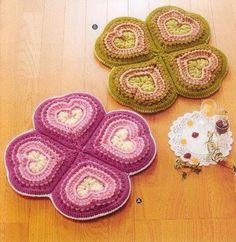 Hooked on crochet: Crochet potholders, with pattern