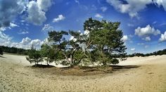 Soest, The Netherlands. Sunshine and clouds in the dunes of Soest. By Winfred Vels with Sony HDR AS100V.