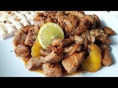 ΧΟΙΡΙΝΗ ΤΗΓΑΝΙΑ!! - YouTube Spinach, Salads, Recipies, Food And Drink, Pork, Beef, Chicken, Youtube, Kochen