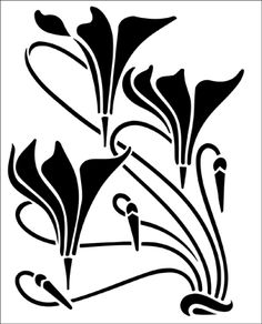 Motif No 78 stencil from The Stencil Library ART NOUVEAU range. Buy stencils online. Stencil code DE268.