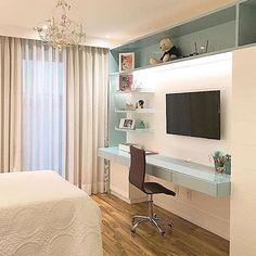 New house projects architecture bedrooms Ideas Room Makeover, Home, Home Bedroom, Bedroom Design, House Projects Architecture, Girl Room, Room Decor, Small Bedroom, New Room