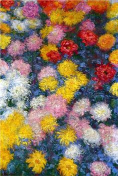 Chrysanthemums - Claude Monet