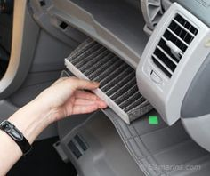Changing Your Car's Cabin Air Filter — As with any filter, a cabin filter clogs up over time. If you have reduced air flow and an unpleasant odor coming from your air vents then dust, pollen, and other contaminants trapped in the cabin filter are probably the culprit.