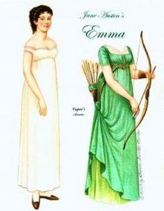 Emma by Jane Austen - paper doll to print