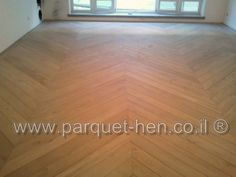 Stained Oak parquet laid in Fishbone