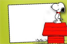 Convite, Moldura e Cartão Snoopy: