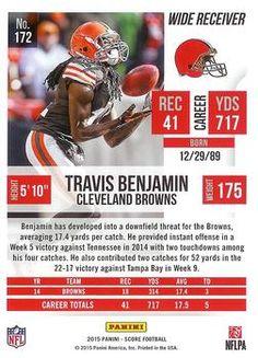 2015 Score #172 Travis Benjamin Back