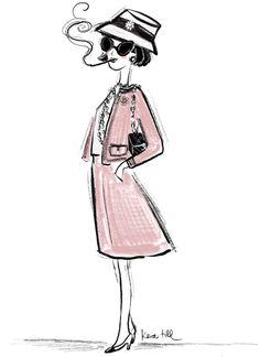 Coco Chanel, Kera Till, Illustration, Chanel