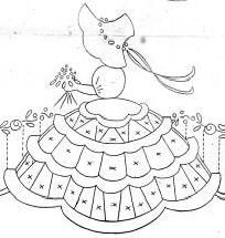 Bonnet Lady - my great grandmother used this very same pattern to make a lovely embroidered tea table cloth ..:-)