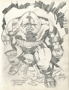 Juggernaut by Jack Kirby from Heroes and. Comic Book Artists, Comic Artist, Comic Books Art, Dc Comics, Batman Comics, Frank Miller, Stan Lee, Joss Whedon, Buffy